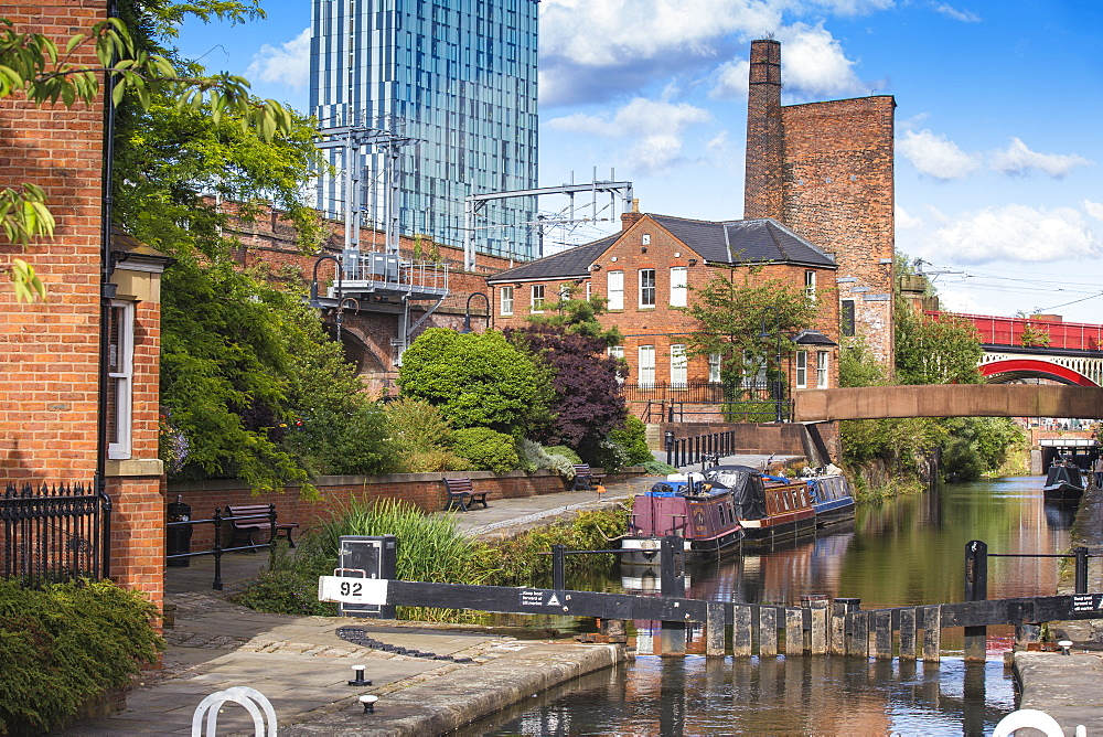 Deansgate, 1761 Bridgewater Canal, Manchester, Greater Manchester, England, United Kingdom, Europe - 1104-1825