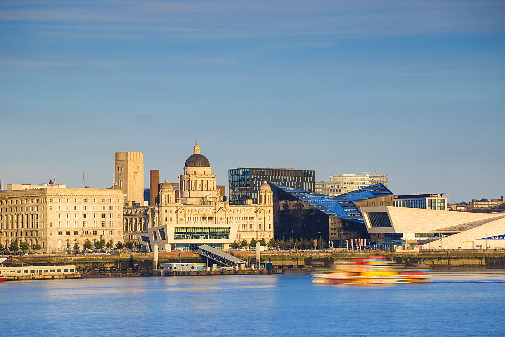 View of Liverpool skyline, Liverpool, Merseyside, England, United Kingdom, Europe - 1104-1838