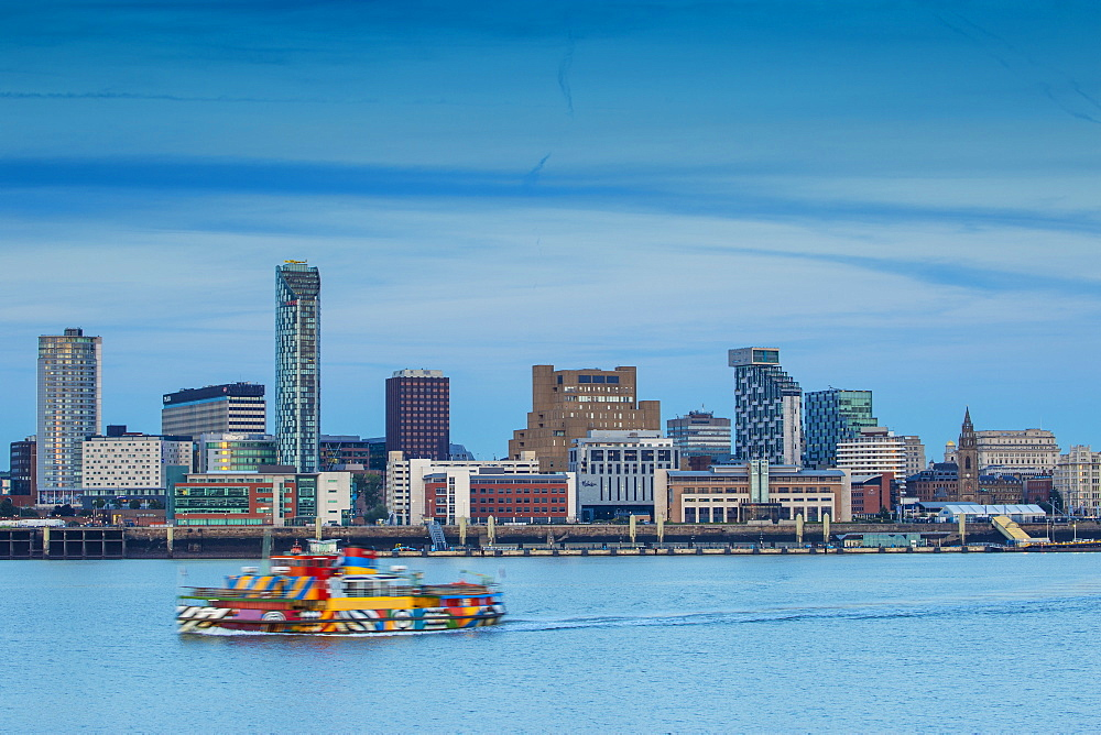 View of Liverpool skyline, Liverpool, Merseyside, England, United Kingdom, Europe - 1104-1839
