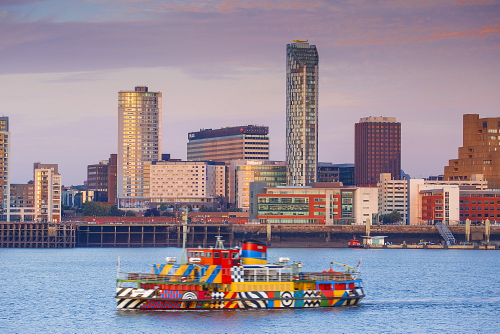 United Kingdom, England, Merseyside, Liverpool, View of Liverpool skyline