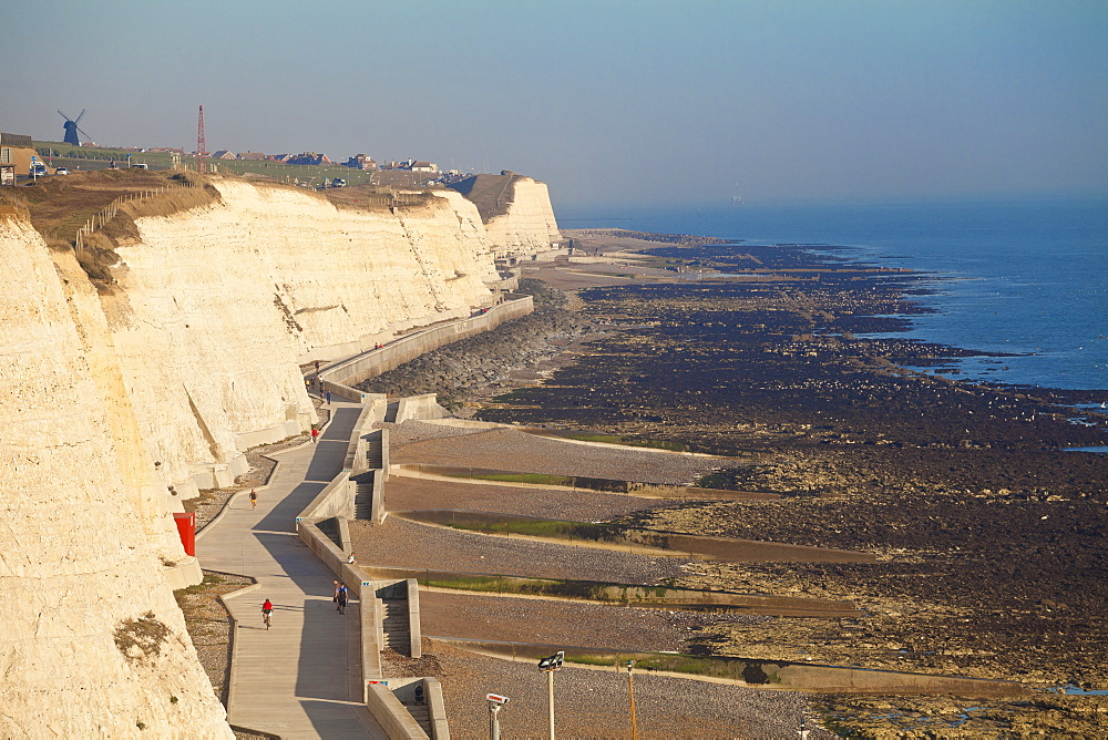 Chalk cliffs by Brighton Marina, Brighton, Sussex, England, United Kingdom, Europe - 1104-1858