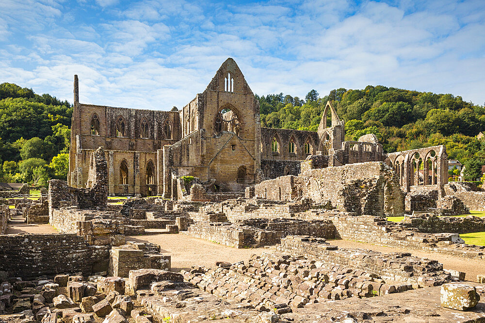 Tintern Abbey, Tintern, Wye Valley, Monmouthshire, Wales, United Kingdom, Europe - 1104-1881