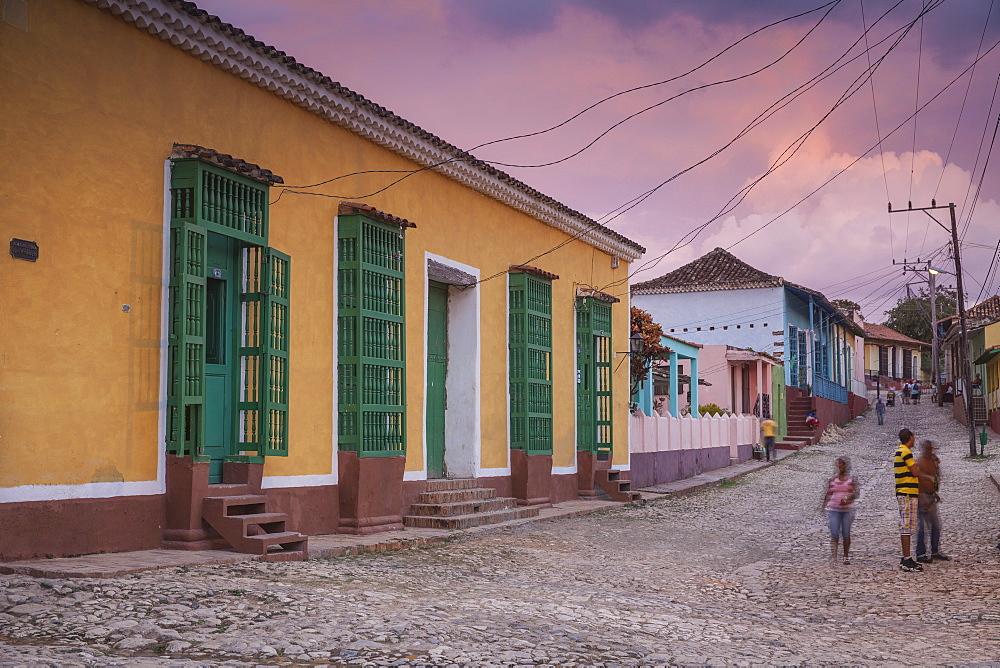 Street scene in historical center, Trinidad, UNESCO World Heritage Site, Sancti Spiritus Province, Cuba, West Indies, Caribbean, Central America