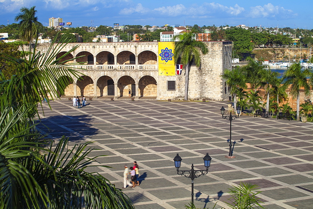 Plaza Espana, Alcazar de Colon, Colonial Zone, UNESCO World Heritage Site, Santo Domingo, Dominican Republic, West Indies, Caribbean, Central America