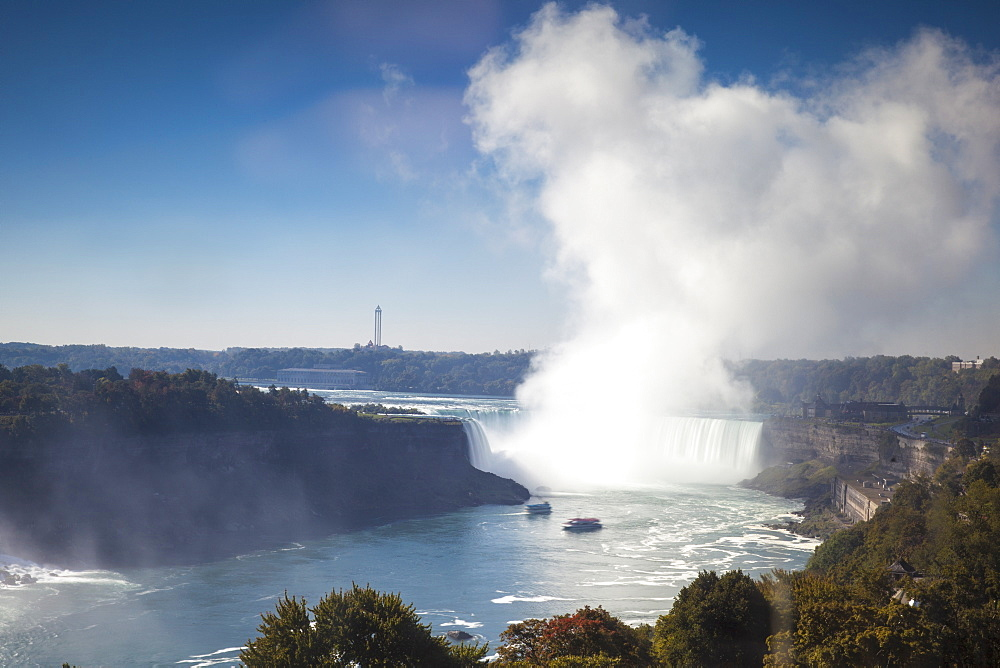 Horseshoe Falls, Niagara Falls, Niagara, border of New York State, and Ontario, Canada, North America