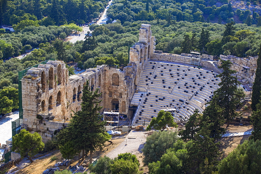 The Odeon of Herodes Atticus (the Herodeon), Athens, Greece, Europe