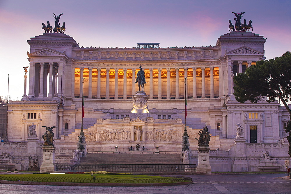 Vittorio Emanuele II Monument, Rome, Lazio, Italy, Europe