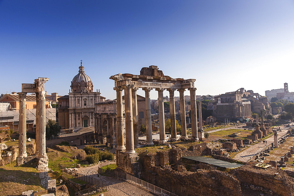 Temple di Saturno, The Roman Forum, UNESCO World Heritage Site, Rome, Lazio, Italy, Europe