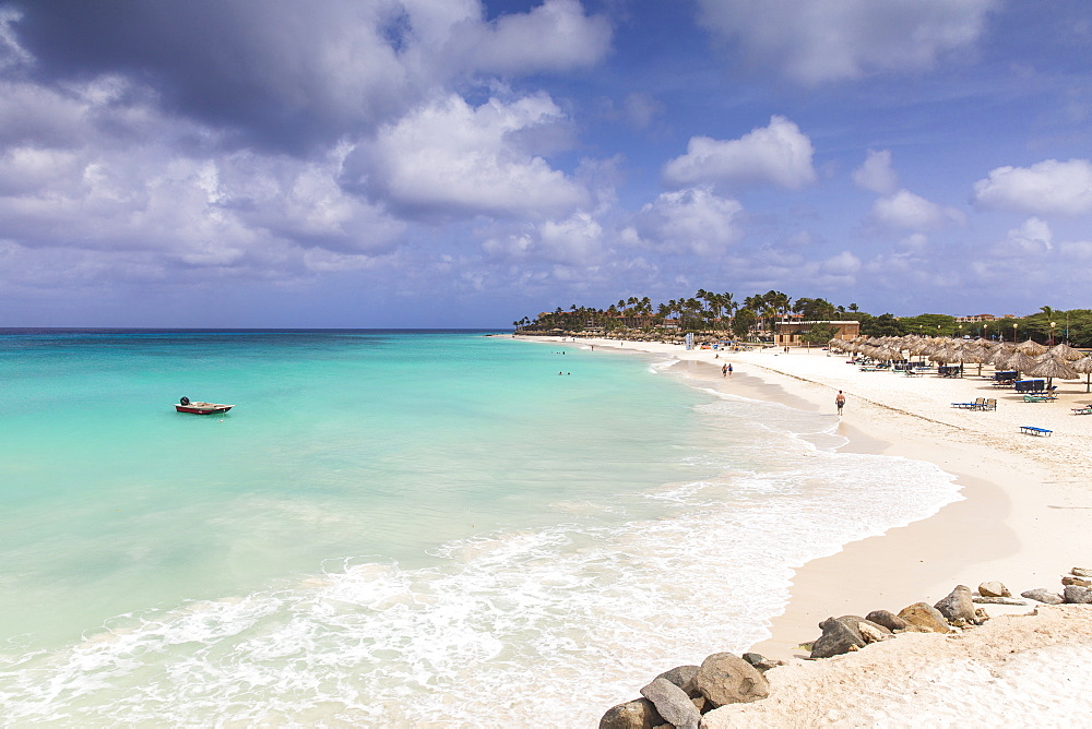 View of Divi Beach, Aruba, Lesser Antilles, Netherlands Antilles, Caribbean, Central America