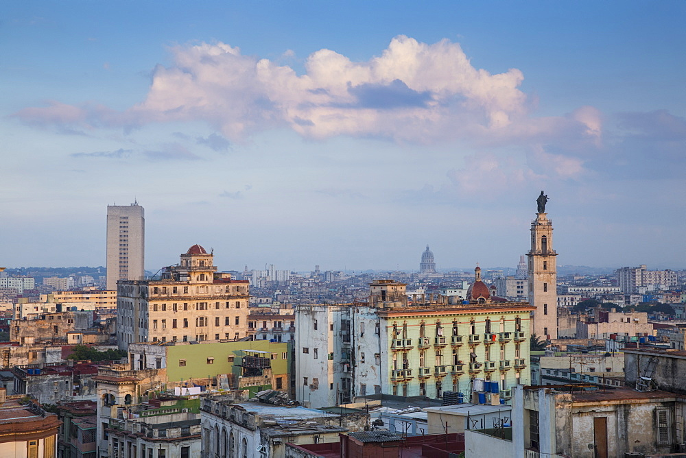 View of Havana looking towards Iglesia y Convento de Nuestra Senora del Carmen, Havana, Cuba, West Indies, Caribbean, Central America