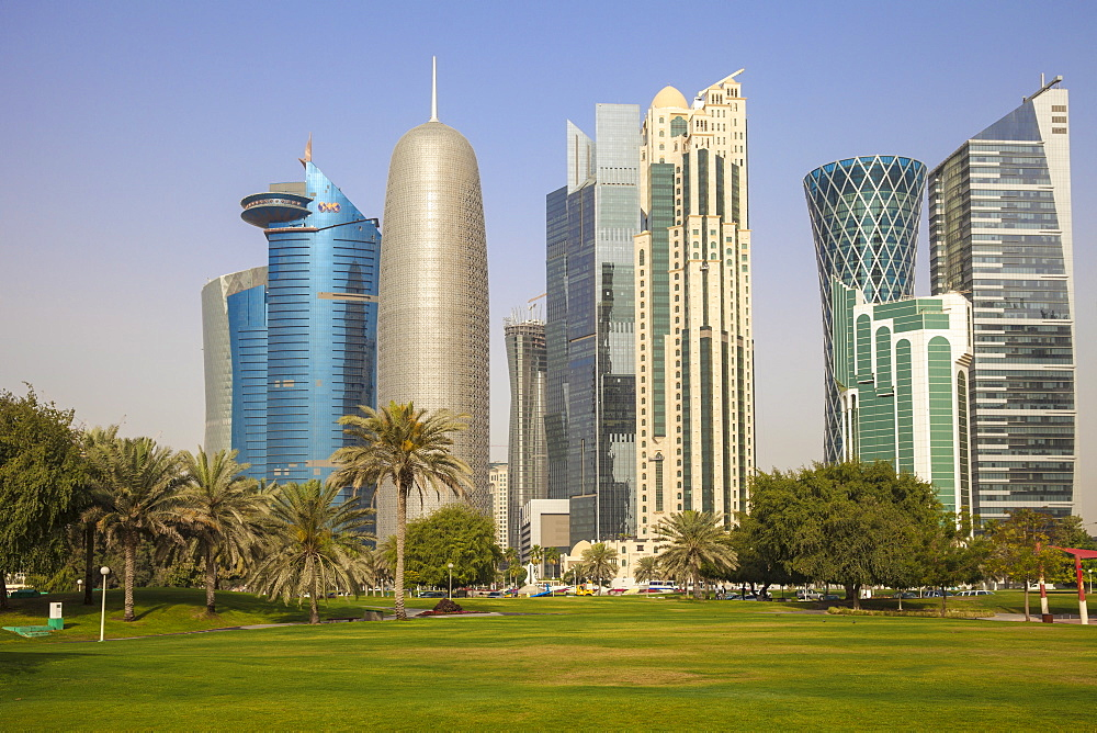 West Bay buildings, Doha, Qatar, Middle East