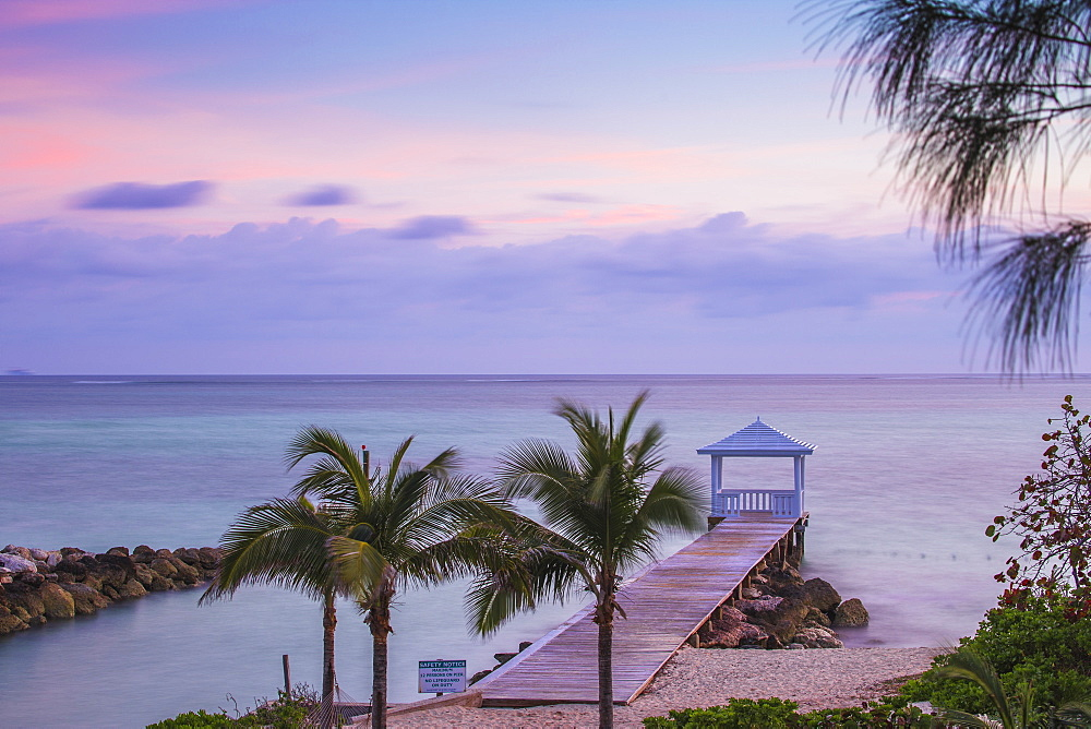 Pier on Providence Island, Bahamas, West Indies, Caribbean, Central America