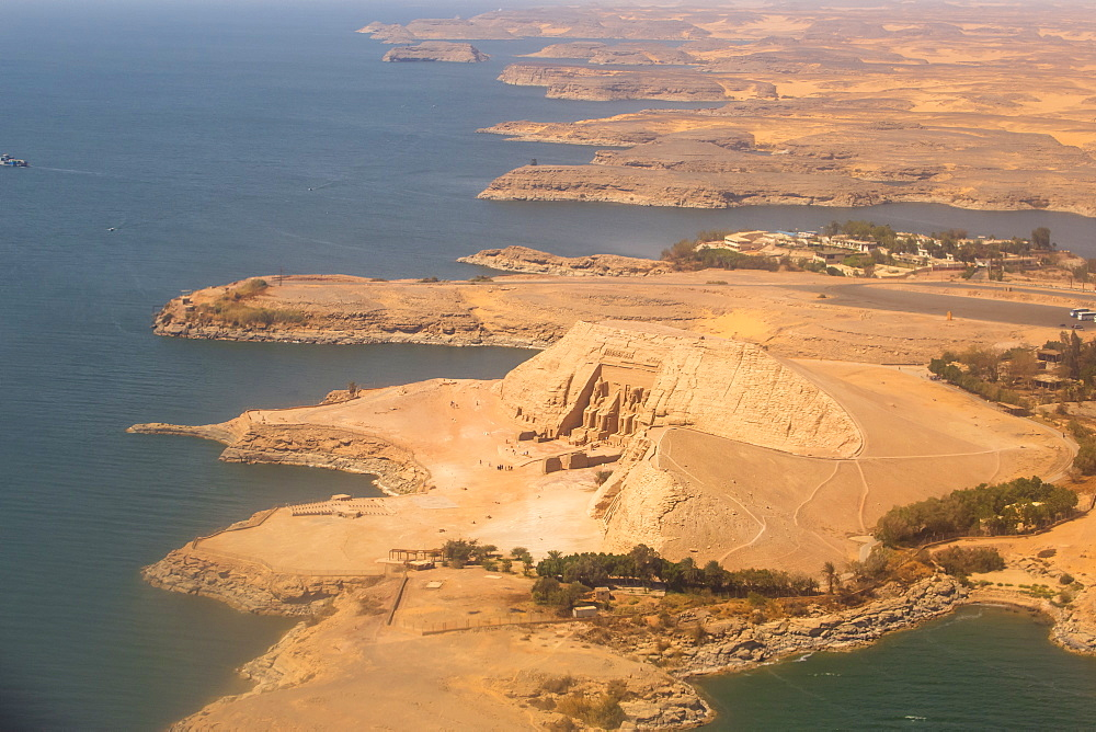 Egypt, Aerial view of Abu Simbel - 1104-800
