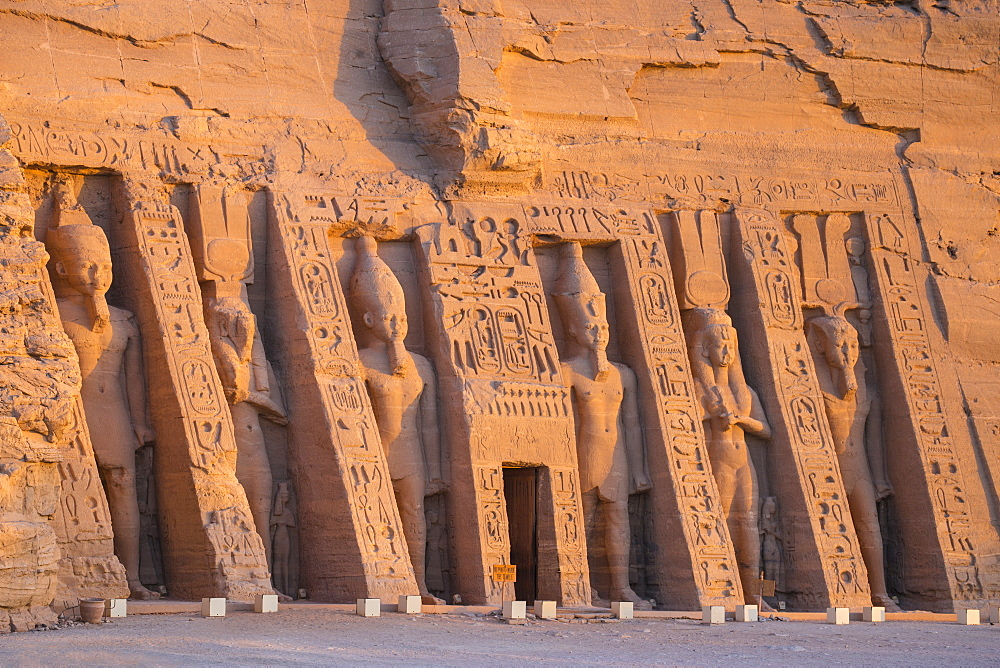 Egypt, Abu Simbel, The small temple -dedicated to Nefertari and adorned with statues of the King and Queen - 1104-808