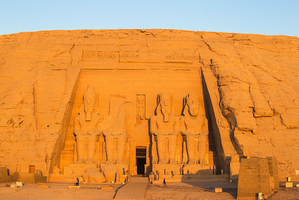 Egypt, Abu Simbel, The Great Temple, known as Temple of Ramses II - 1104-822