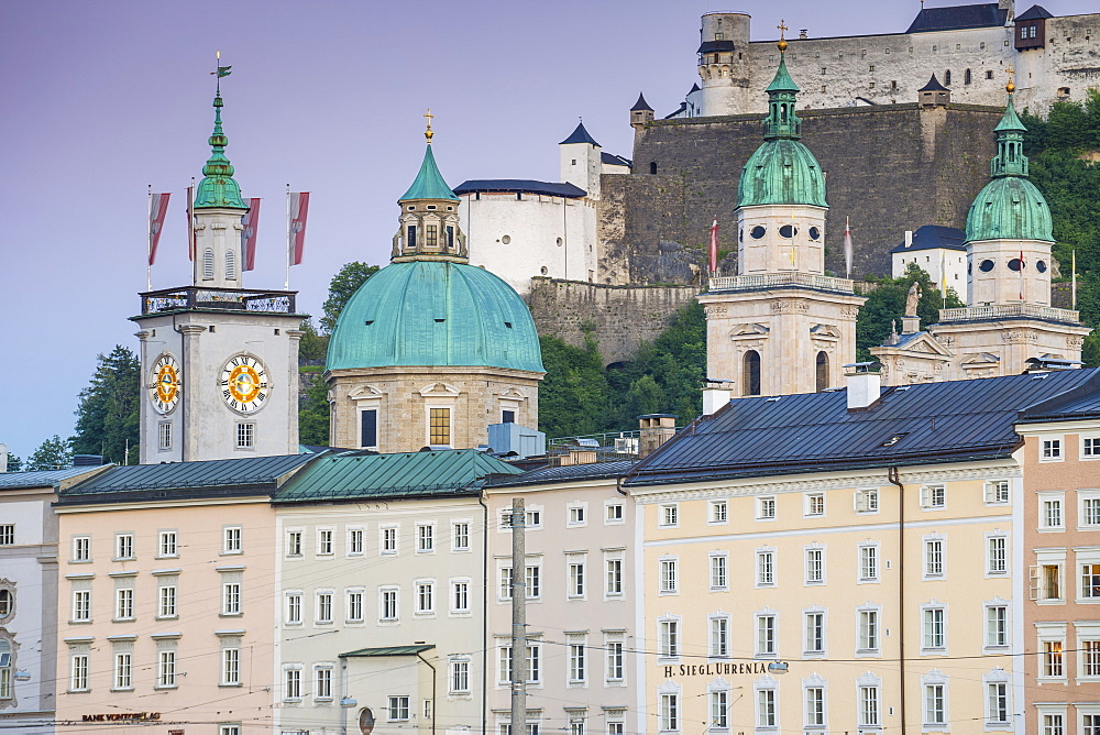 View of the Altstadt (The Old City), UNESCO World Heritage Site, Salzburg, Austria, Europe