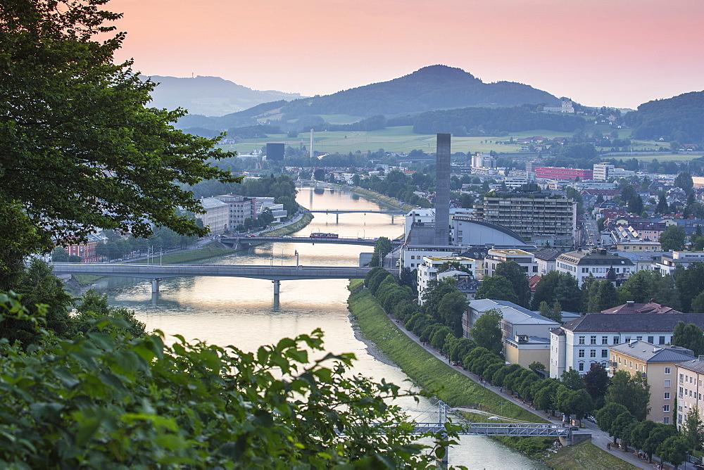 View of Salzach River, Salzburg, Austria, Europe