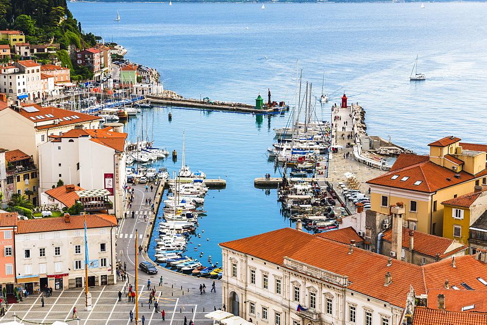 Port of Piran (Luka Piran), Primorska, Slovenian Istria, Slovenia, Europe