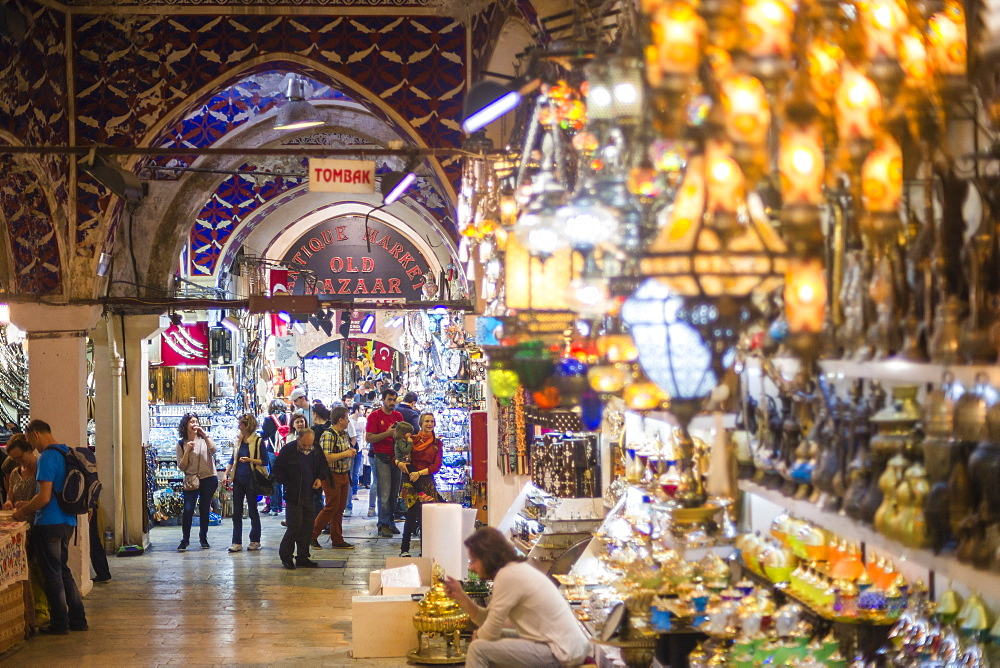 Grand Bazaar (Kapali Carsi), a covered market in Istanbul, Turkey, Europe - 1109-1881