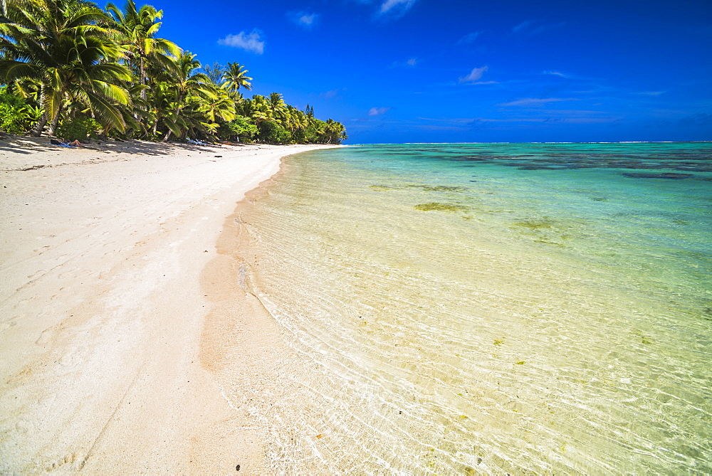 Beach at Titikaveka, Rarotonga, Cook Islands, South Pacific Ocean, Pacific
