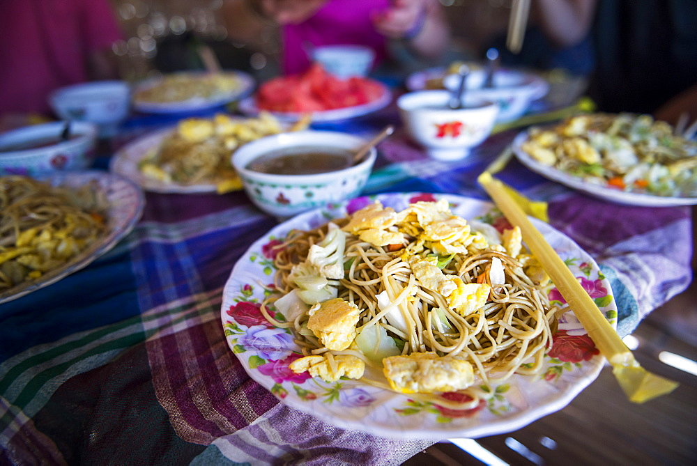 Traditional Burmese noodles, Myanmar (Burma), Asia