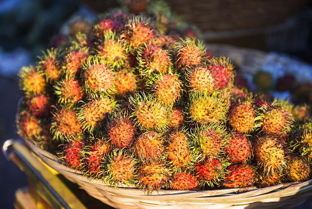 Rambutan, Mawlamyine market, Mon State, Myanmar (Burma), Asia