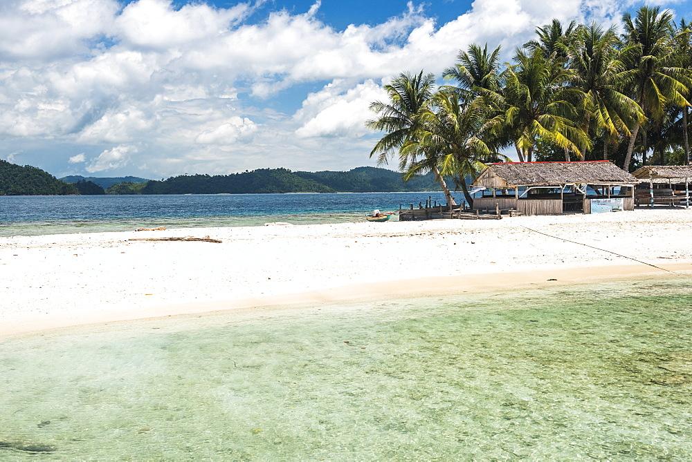 Twin Beach, a tropical, white sandy beach near Padang in West Sumatra, Indonesia, Southeast Asia, Asia