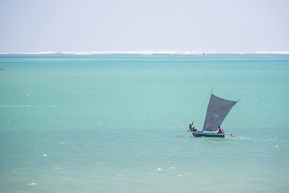 Pirogue, a traditional Madagascar sailing boat, Ifaty Beach, Madagascar, Africa
