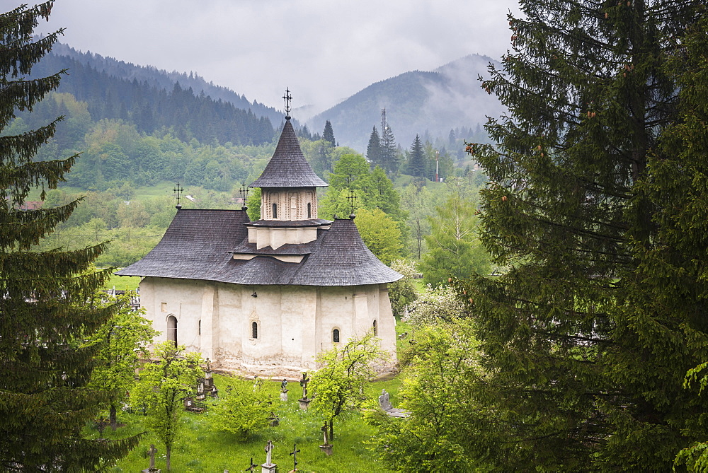 Sucevita Monastery, a Gothic church, one of the Painted Churches of Northern Moldavia, UNESCO World Heritage Site, Bukovina, Romania, Europe