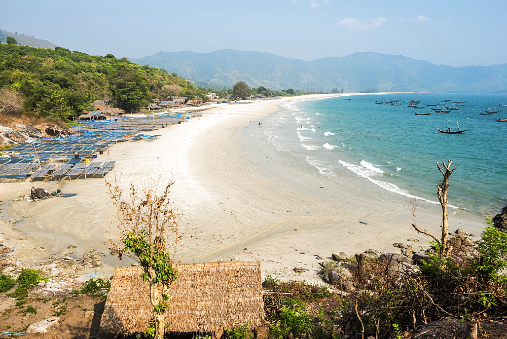 Tizit Beach and fishing village, Dawei Peninsula, Tanintharyi Region, Myanmar (Burma), Asia
