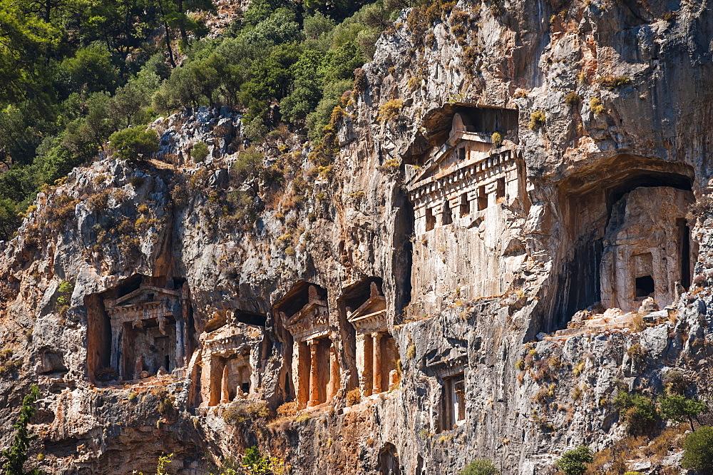 Lycian tombs, Dalyan, Mugla Province, Anatolia, Turkey, Asia Minor, Eurasia