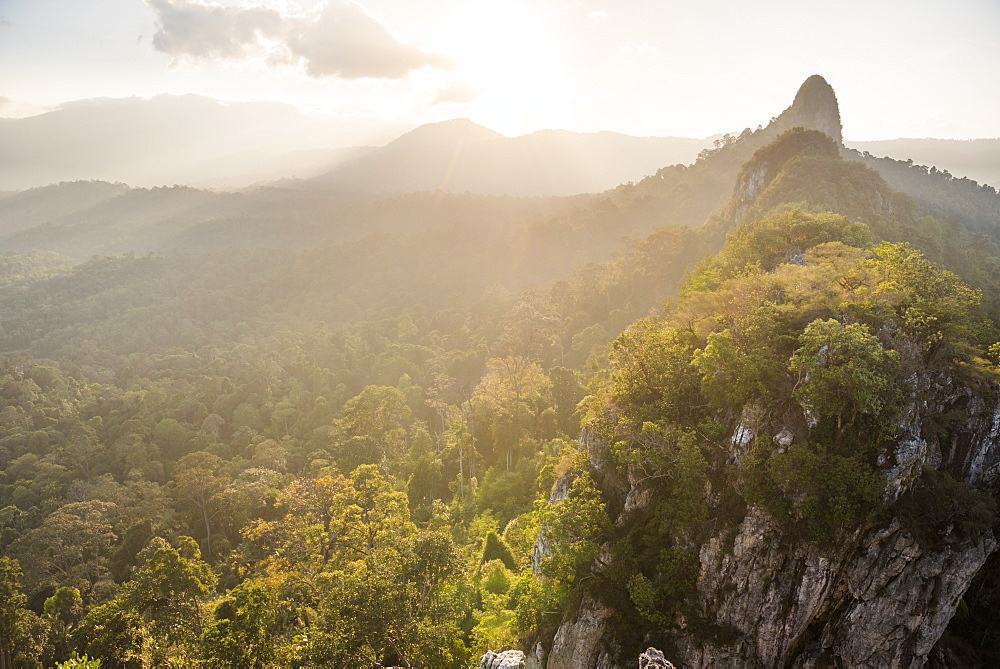 Stock photo of Bukit Tabur Mountain at sunrise