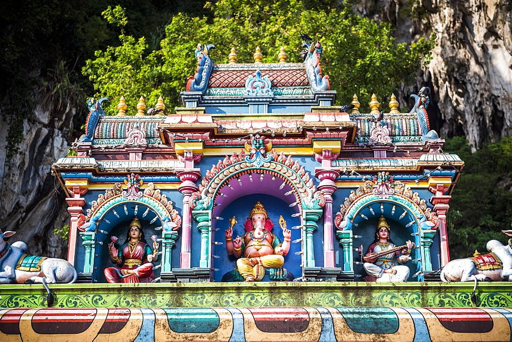 Colourful Hindu statues, Batu Caves, Kuala Lumpur, Malaysia, Southeast Asia, Asia