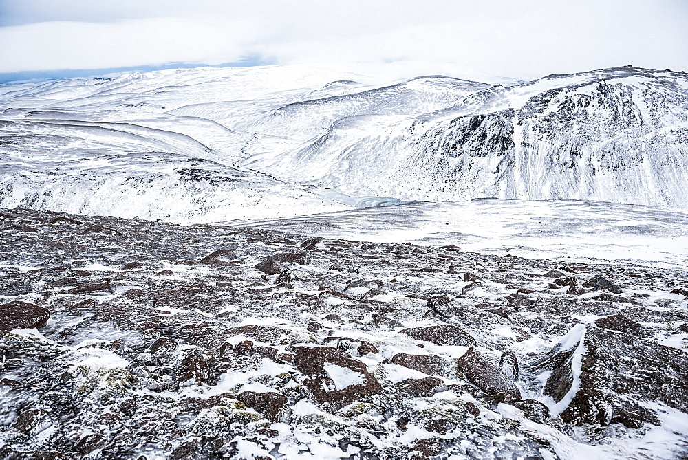 CairnGorm Mountain covered in snow in winter, Cairngorms National Park, Scotland, United Kingdom, Europe - 1109-3097