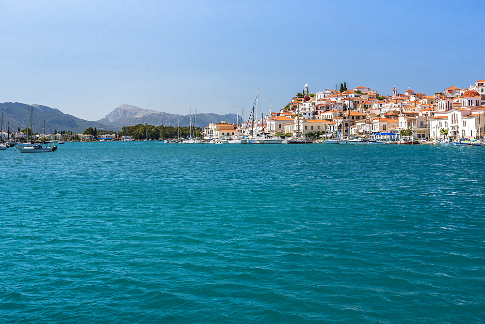 Poros Island port, Saronic Island, Aegean Coast, Greek Islands, Greece, Europe