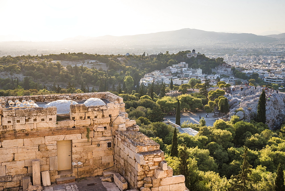 Athens, seen from Acropolis, Attica Region, Greece, Europe