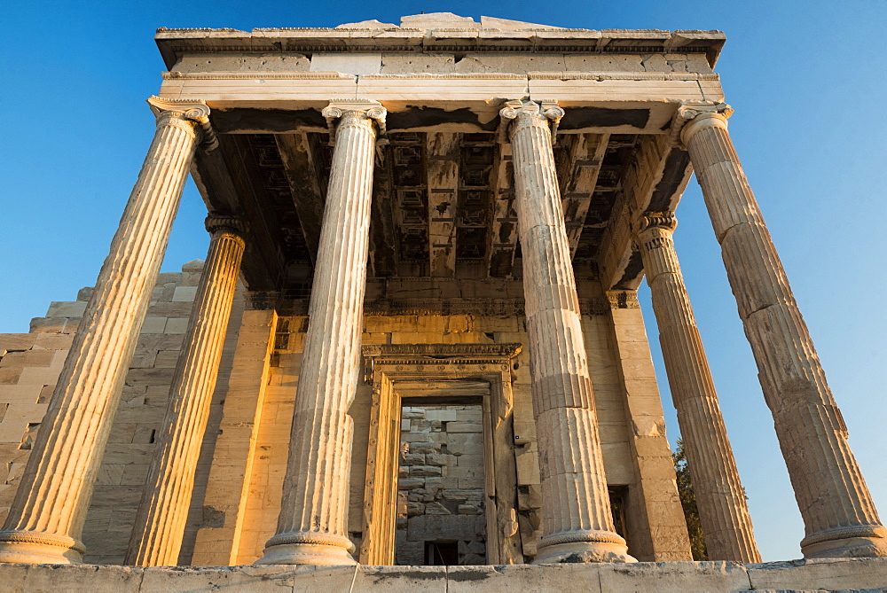 Acropolis at sunset, UNESCO World Heritage Site, Athens, Attica Region, Greece, Europe