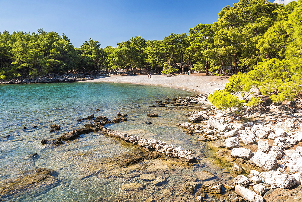 Ruins of Phaselis near Kemer, Antalya Province, Lycia, Anatolia Peninsula, Mediterranean Coast, Turkey, Asia Minor, Eurasia