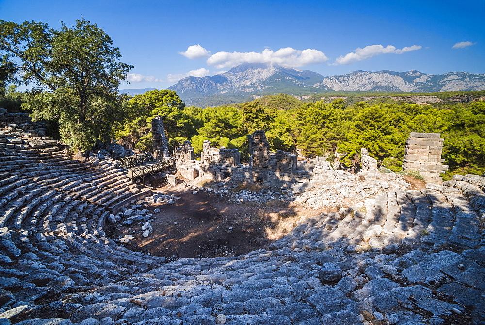 Ruins of Phaselis near Kemer, Antalya Province, Lycia, Anatolia Peninsula, Mediterranean Coast, Turkey, Asia Minor, Eurasia - 1109-3419