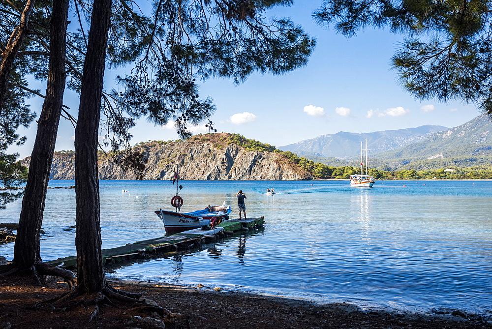 Bay at Phaselis near Kemer, Antalya Province, Mediterranean Coast, Turkey, Asia Minor, Eurasia - 1109-3424