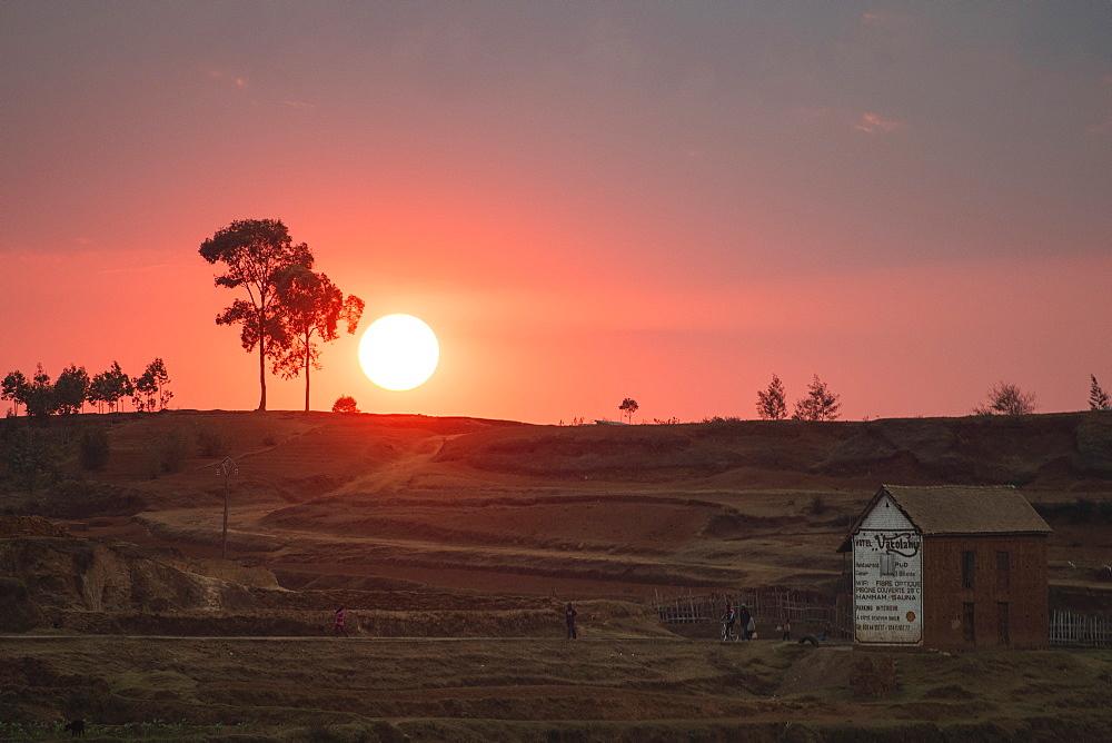 Sunset near Antsirabe, Vakinankaratra Region, Madagascar, Africa - 1109-3546