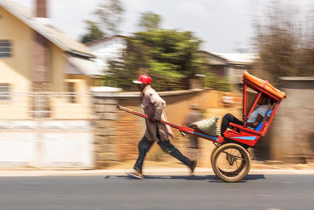 Rickshaw, Antsirabe, Vakinankaratra Region, Madagascar, Africa