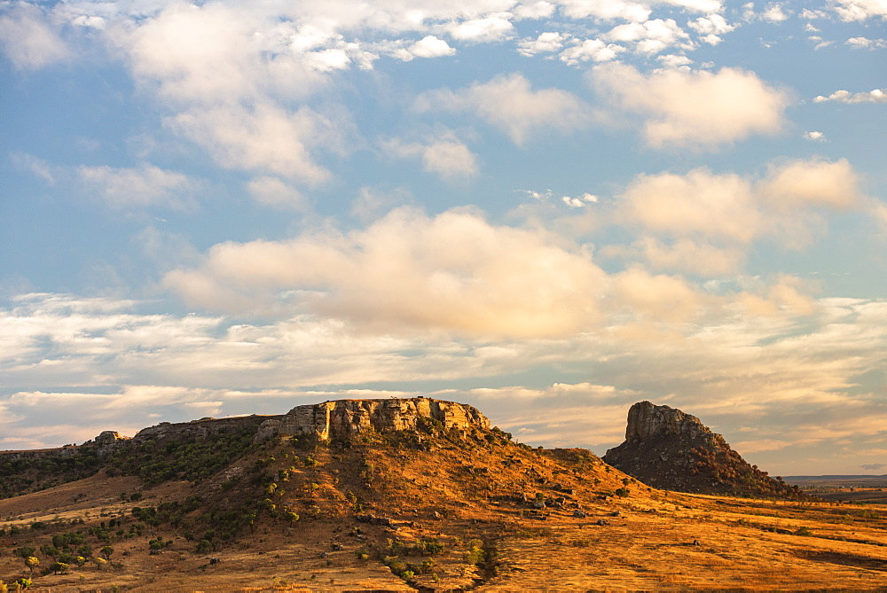 Isalo National Park landscape at sunrise, Ihorombe Region, Madagascar, Africa - 1109-3565