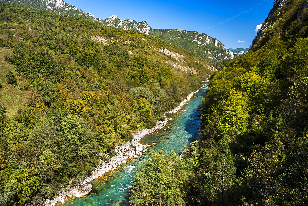 Tara River Canyon Gorge, Bosnia and Herzegovina border with Montenegro, Europe - 1109-3585