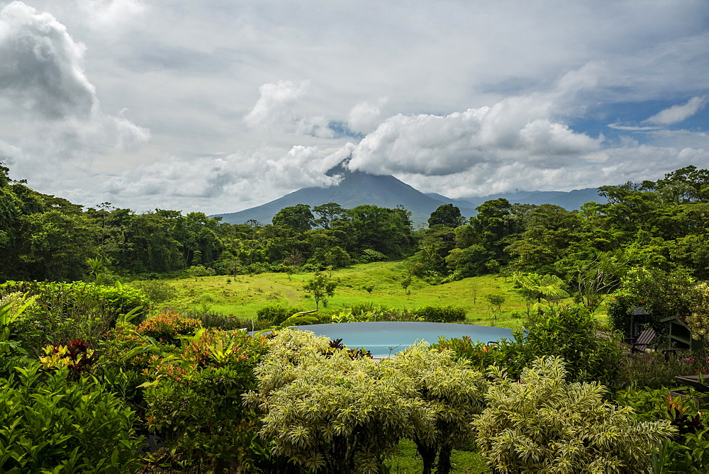 Arenal Volcano seen from Arenal Lodge, Alajuela Province, Costa Rica