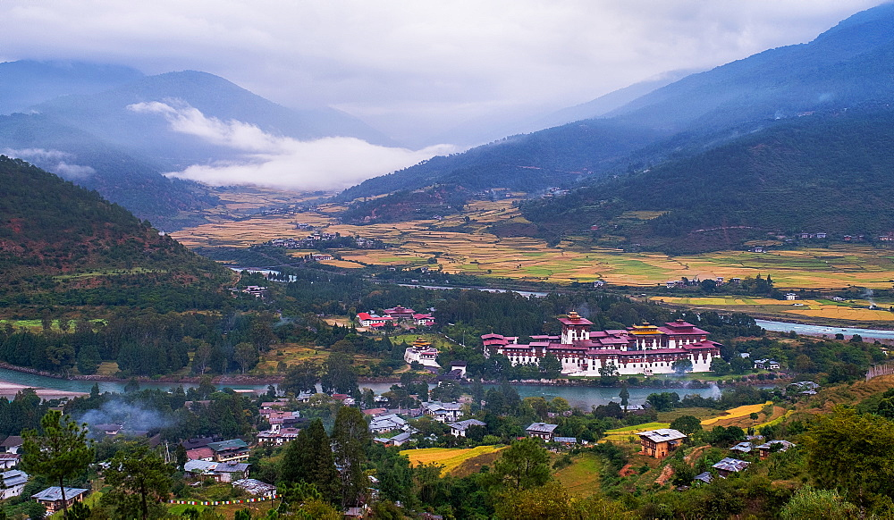 Punakha Dzong, the second largest and second oldest dzong in Bhutan, Punakha, Bhutan, Asia - 1111-145