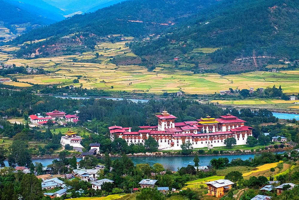 Punakha Dzong, the second largest and second oldest dzong in Bhutan, Punakha, Bhutan, Asia - 1111-148