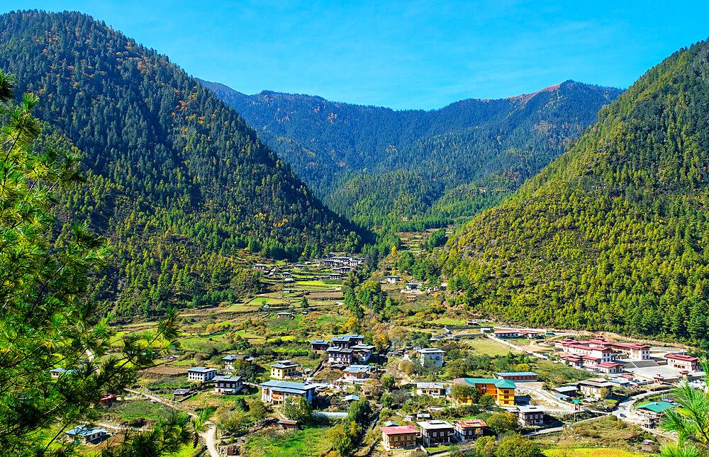 High vantage point, Haa Village, Bhutan. - 1111-164