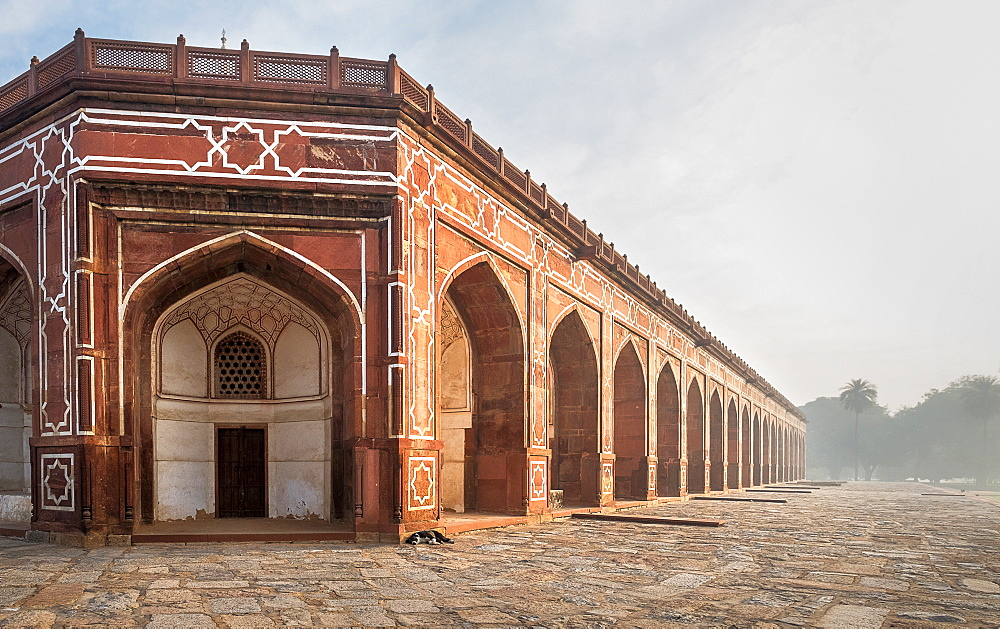 Corner of Humayun's Tomb in Delhi, India, Asia