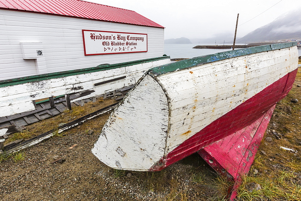Hudson Bay Company whaling station in Pangnirtung, Nunavut, Canada, North America